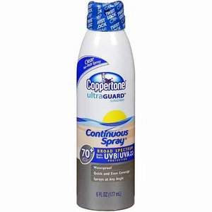 Coppertone UltraGuard Continuous Spray SPF 70+ Sunscreen