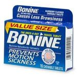 Bonine Motion Sickness Protection Raspberry Flavored Chewable Tablets (16 Each)