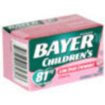 Bayer Children's Chewable Children's Aspirin Pain Reliever 81mg (Cherry, 36 Each)