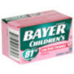 Bayer Children S Chewable Aspirin Pain Reliever 81mg Cherry
