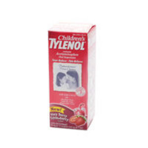 Tylenol Children's Fever Reducer & Pain Reliever Oral Suspension, Very Berry Strawberry