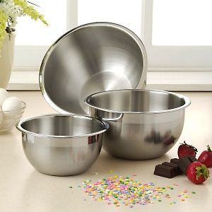 Wolfgang Puck Bistro 3 Piece Stainless Steel Mixing Bowl