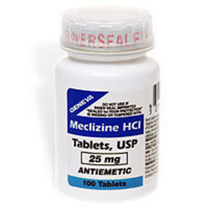 Meclizine HCl USP 25 mg Antiemetic Tablets 100 ea