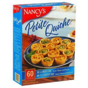 Nancy's Petite Quiche - 12 gourmet appetizers