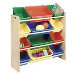 Whitmor Kids 12-Bin Organizer - Primary