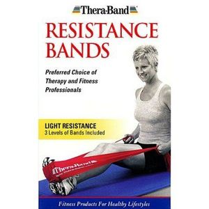 TheraBand Latex Exercise Band Pack Light - 1 Thin/1 Medium/1Heavy