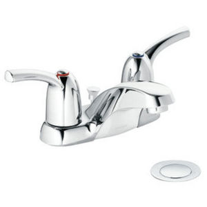 Moen Touch Control Chrome Two-Handle Low Arc Bathroom Faucet 84403