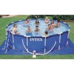 "Intex 15' X 42"" Round Metal Frame Pool Set"