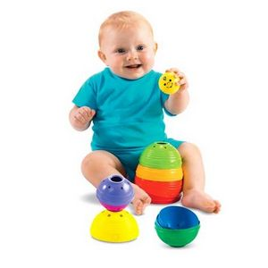 Fisher-Price Brilliant Basics Stack & Roll Cups