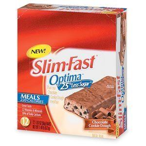 Slim Fast  Optima Meal Bar, Chocolate Cookie Dough