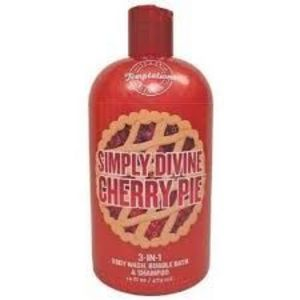 Bath & Body Works Temptations Simply Divine Cherry Pie 3-in-1 Body Wash, Bubble Bath, & Shampoo
