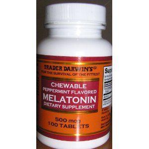 Trader Darwin's Chewable Peppermint Flavored Melatonin