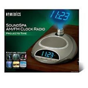 HoMedics - SoundSpa Clock Radio With Time Projection