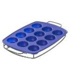 KitchenAid Silicone 12-Cup Muffin Pan with Sled
