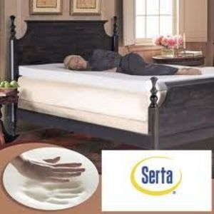 Serta Ultimate 4 Inch Memory Foam Mattress Topper F Top