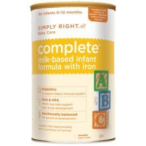 Simply Right Complete Infant Formula with Iron (formerly Member's Mark)
