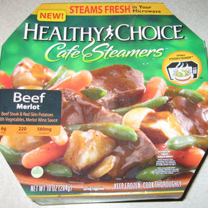 Healthy Choice Cafe Steamers - Beef Merlot