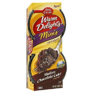 Betty Crocker Warm Delights Mini's Molten Caramel Cake