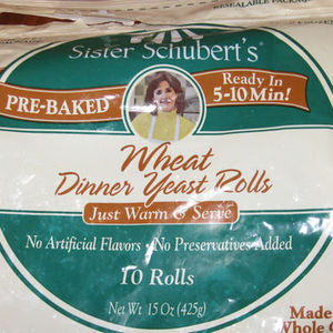 Sister Shubert's Wheat Dinner Yeast Rolls