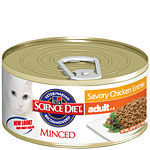 Hill's Science Diet Savory Chicken Entree Adult - Minced