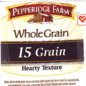 Pepperidge Farm Whole Grain Bread (15 Grain)
