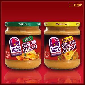 Taco Bell Salsa Con Queso Cheese Dip