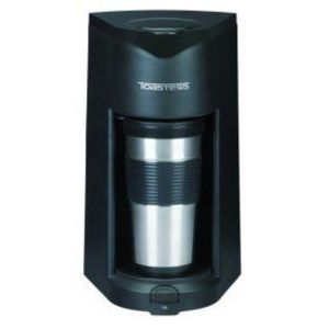 Toastess Silhouette Personal-Size Coffeemaker with Stainless Steel Travel Mug