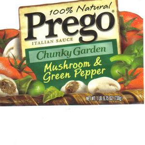 Prego Chunky Garden Mushroom & Green Pepper Italian Sauce