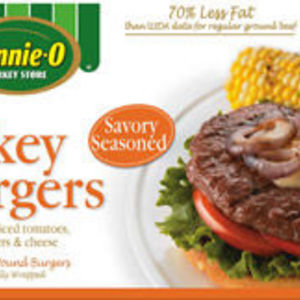 Jennie-O Savory Seasoned Turkey Burgers