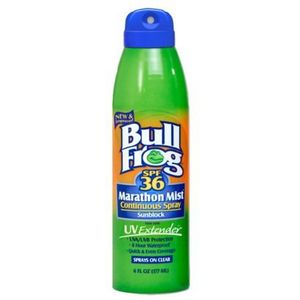 BullFrog Marathon Mist Continuous Spray Sunblock SPF 36
