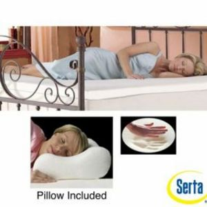 Serta 2-inch Memory Foam Mattress Topper with Contour Pillows