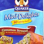 Quaker - Cinnamon Streusel Mini Delights 90 Calorie Packs