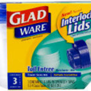 Glad Gladware Containers With Interlocking Lids