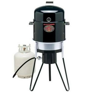 Brinkmann All-In-One Gas & Charcoal Single-Burner Smoker, Grill, & Fryer