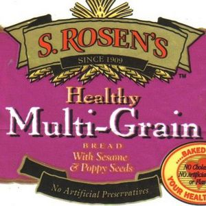 S. Rosen's Healthy Multi-Grain Bread with Sesame & Poppy Seeds