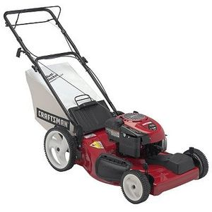 Craftsman 21 in. Deck Rear Bag Front Propelled Lawn Mower with High Wheels