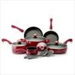 Paula Deen Signature Porcelain 12-Piece Nonstick Cookware Set