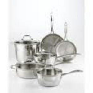 Martha Stewart 10-Piece Stainless Steel Cookware Set