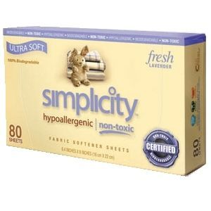 Simplicity Fabric Softener Sheets