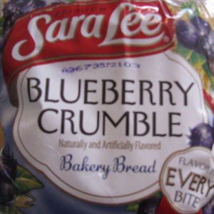 Sara Lee Blueberry Crumble Bakery Bread