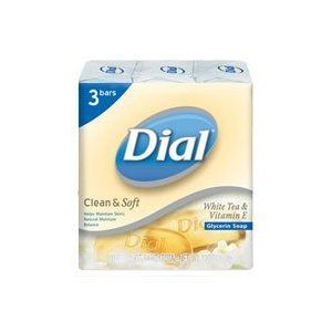 Dial Natural Radiance Glycerin Bar Soap with White Tea & Vitamin E