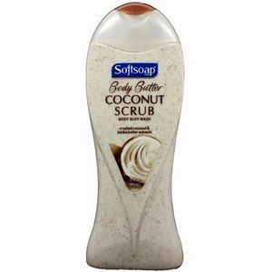 Softsoap Body Butter Coconut Scrub Body Wash