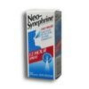 Neo Synephrine 12 Hour Nasal Decongestant Spray 0.5 Floz 15ml