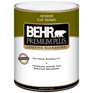 Behr Premium Plus Interior Flat Enamel 185001 Reviews