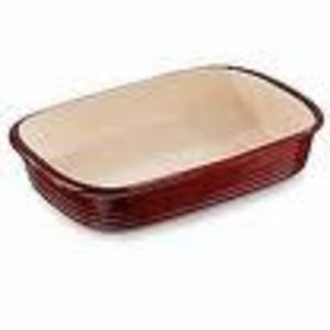 Pampered Chef Cranberry Rectangular Baker #1338