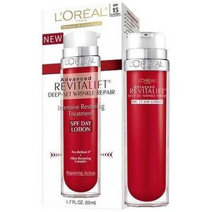 L'Oreal Advanced RevitaLift Deep-Set Wrinkle Repair SPF Day Lotion/Night Lotion