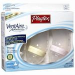 Playtex VentAire Advanced Wide Plastic Baby Bottles