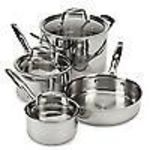 Pampered Chef Stainless Steel Cookware Set