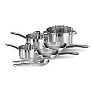 T-Fal Elegance 10-Piece Stainless Steel Cookware Set