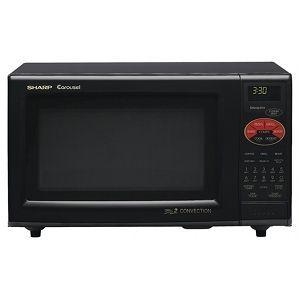 Sharp 900 Watt 0.9 Cubic Feet Carousel Microwave Oven R-820BK/ 820BW/ 820JS